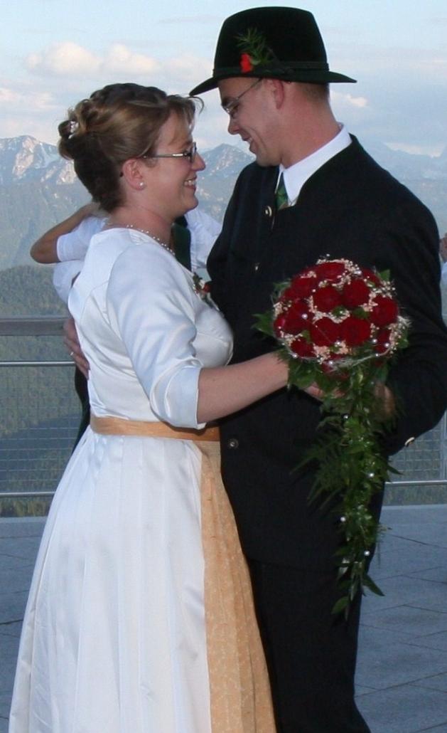 Brauttanz auf der Terrasse