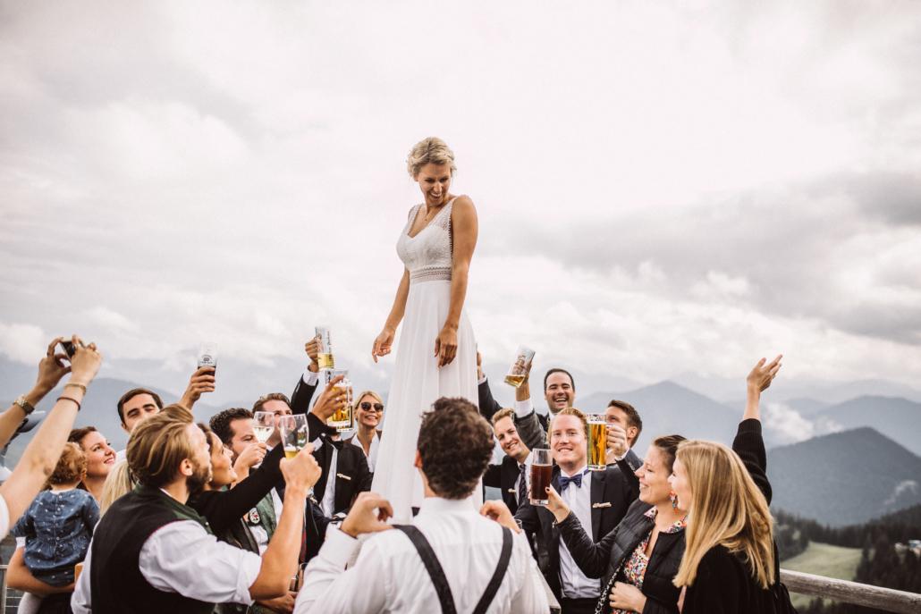 Ein Prost auf die Braut!